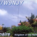 Newly arrived QSL from PJ4/W9NJY