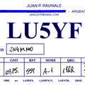 Newly arrived QSL from LU5YF