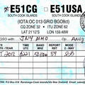 Newly arrived QSL from E51CG