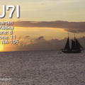 Newly arrived QSL from PJ7I