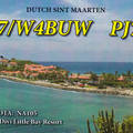 Newly arrived QSL from PJ7N