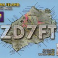 Newly arrived QSL from ZD7FT
