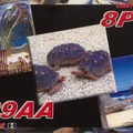 Newly arrived QSL from 8P9AA