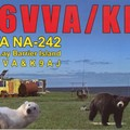 Newly arrived QSL from K6VVA/KL7