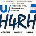 Newly arrived QSL from LU/JH4RHF
