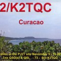 Newly arrived QSL from PJ2s