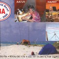 Newly arrived QSL from TX3A