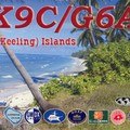 Newly arrived QSL from VK9C/G6AY