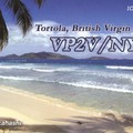 Newly arrived QSL from VP2V/NY6X