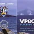 Newly arrived QSL from VP8ORK