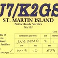 Newly arrived QSL from PJ7/K2GSJ
