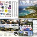 Newly arrived QSL from VK9LA