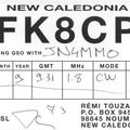 Newly arrived QSL from FK8CP